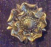 Vintage Miracle Brooch - Silvertone Tudor Rose Brooch by Miracle (SOLD)